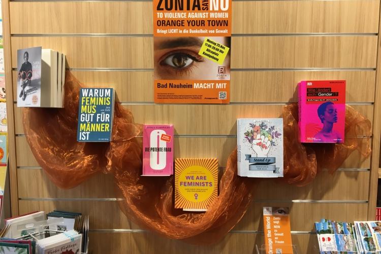 Die Buchhandlung am Park sagt Nein! zu Gewalt an Frauen und Mädchen