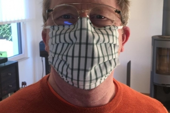 So sieht eine handgemachte Maske aus - made by ZONTA